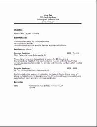 Resume For Child Care Job Resume Objective For Child Care Worker Child Care  Resume