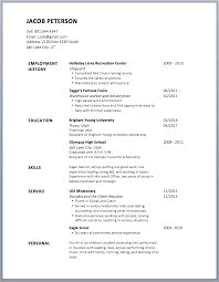 Resume Borders Resume Borders Simple Resume Template 3