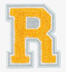 varsity letter yellow patches varsity letter full size png image pngkit