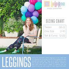 Tc Lularoe Size Chart Lularoe Leggings Sizing Chart Size Chart For Tween One