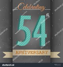anniversary poster template 54th anniversary poster template design retro stock vector royalty