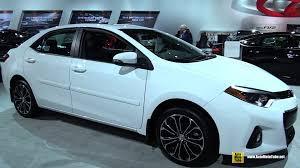 toyota corolla 2015 white. Unique Corolla 2015 Toyota Corolla S  Exterior And Interior Walkaround Detroit  Auto Show YouTube Intended White O