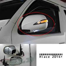 Chrome Electric Rearview Side mirror with LED lights for Toyota ...