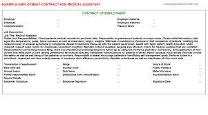 Medical Assistant Employment Contract | Agreements & Contracts ...