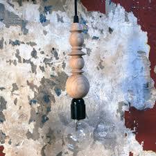 Draadlamp Hout En Zwart Met Schakelaar