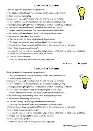 HD wallpapers adverb adjective worksheets middle school high ...