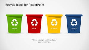 Recycle Icons Template For Powerpoint