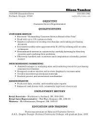 Resume Customer Service Sample Sample Of Customer Service