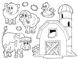 Printable Colouring Sheets Farm Animals L