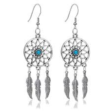 Dream Catcher Earing Dream Catcher Drop Earrings lovepeaceboho 2