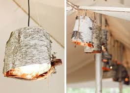 birch bark crafts easy lamp plafond rustic flair