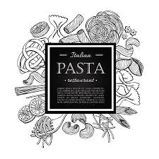 italian restaurant clipart black and white. Beautiful And Vector Vintage Italian Pasta Restaurant Illustration Hand Drawn Banner  Great For Menu Banner And Italian Restaurant Clipart Black White P