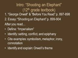 heart of darkness joseph conrad intro ldquo shooting an elephant rdquo  intro shooting an elephant 12 th grade textbook 1