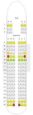Cogent United A319 Seat Map Eva Air Seating Chart Airbus
