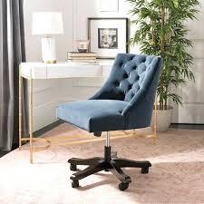 velvet office chair tufted swivel desk uk