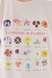 Chart Tee Womens White Language Of Flowers Chart Tee In 2019