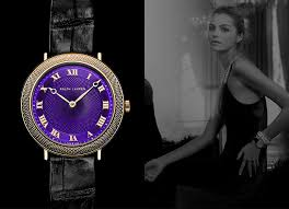 men s and women s watches collections ralph lauren slim classique vibrant purple dial and gold r numerals