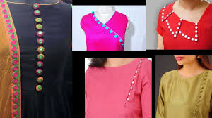 Latest Button Design Neck Designs With Buttons Latest Neck Designs For Kurtis Kurti Neck Design With Buttons