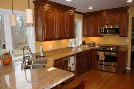 Cherry Cabinets In Kitchen Best Wall Colors For Dark Kitchen Cabinets House Decor