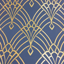 art deco astoria wallpaper glitter sparkly geometric dark blue gold rasch 1 of 4only 1 available  on gold art deco wallpaper uk with art deco astoria wallpaper glitter sparkly geometric dark blue