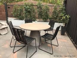 zen round concrete table 120cm