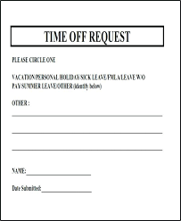 Days Off Request Form Template Vacation Request Form Template Fresh Days Off Occasions Time O