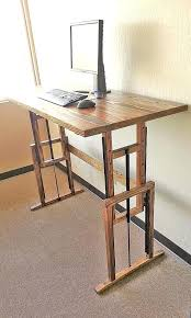 sit stand desk diy beautiful best standing hacks images on of0