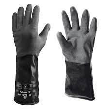 Showa 874r 10e X Large 10 Unlined Butyl Rubber Chemical Resistant Gloves