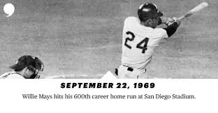 Image result for willie mays hits 600th career