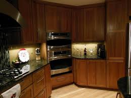 Cherry Wood Kitchen Cabinets Cozy Travertine Tile With Kraftmaid Kitchen Cabinets And Gas Stove