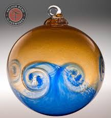 Hand Blown Glass Ornaments Christmas  Rainforest Islands Ferry in Hand  Blown Christmas Ornaments
