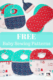 Free Baby Sewing Patterns Interesting Free Easy Baby Sewing Patterns And Tutorials Bib Burp Cloth Hat