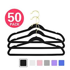 MIZGI Premium Kids Velvet Hangers (Pack of 50) 14 ... - Amazon.com
