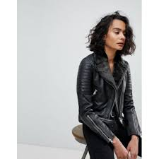 allsaints quilted leather jacket with faux fur collar women s leather jacket r4vbcug3izuymd