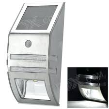solar motion detector light outdoor wall mounted solar motion sensor led white lamp silver pertaining to