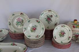 Rose Pattern China Extraordinary Old Strasbourg Rose Pattern China At 48stdibs