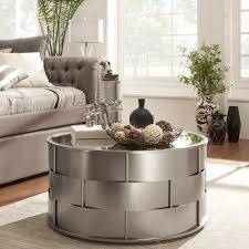 Hayes Mirror Top Metal Accent Coffee Table by iNSPIRE Q Bold by iNSPIRE Q