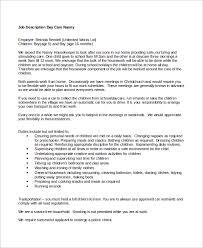 40 Nanny Job Description Samples Sample Templates Extraordinary Job Description Template Word