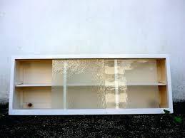 wall cabinet glass door vintage retro kitchen wall unit cupboard w sliding glass doors ikea wall wall cabinet glass door
