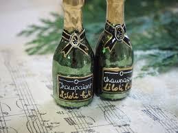 2x Champagner Flaschen Sekt Christbaumschmuck Weihnachtsbaumschmuck