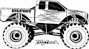 Small Picture Monster Truck Monster Truck Bigfoot Flames Coloring Page