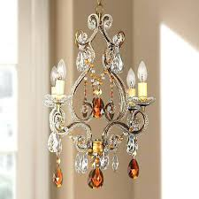 plug in wall chandelier amber gold finish swag within crystal inspirations 12