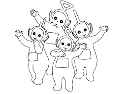 Small Picture Coloring Pages Teletubbies Animated Images Gifs Pictures
