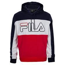 fila hoodie mens. fila baggio velour hoodie - men\u0027s navy / red mens e