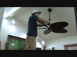 adjusting the set s to a wobbly ceiling fan