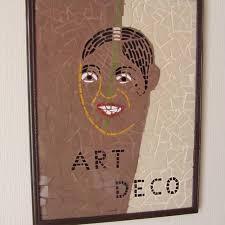 Tableau en mosaique ' jb art deco ' decoration vintage - Un grand marché