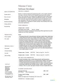 Sample Resume For Software Engineer With 2 Years Experience Sample Resume Software Developer Software Developer Resume Sample