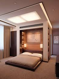 bedroom wall decoration. Integrated Ceiling Lighting Bedroom Wall Design - Decoration Behind The Bed