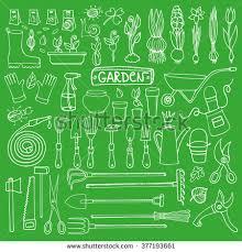 Small Picture Spring Garden Sethand Drawn Vector Sketch Stock Vector 371448865