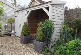 backyard wood shed storage